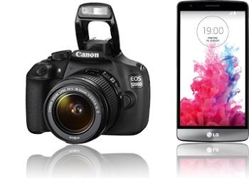 Canon EOS 1200D + LG G3 S D722 Digitalkamera