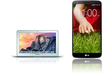 MacBook Air 11,6 + LG G2 D802