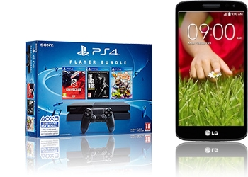 Sony PlayStation 4 3x Spiel + LG G2 mini D620