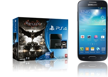 Sony PlayStation 4 Batman + Samsung Galaxy S4 mini I9195