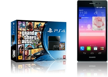 Sony PlayStation 4 GTA V + Huawei Ascend P7